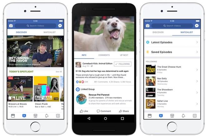 Dịch vụ video trực tuyến Facebook Watch chính thức phát hành toàn cầu