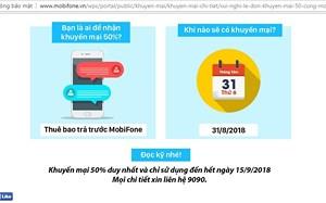 Nhà mạng khuyến mại 50% giá trị thẻ nạp, người dùng vẫn kém vui
