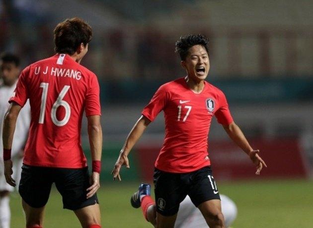 Đội tuyển Olympic Hàn Quốc giành Huy chương Vàng Asiad 18