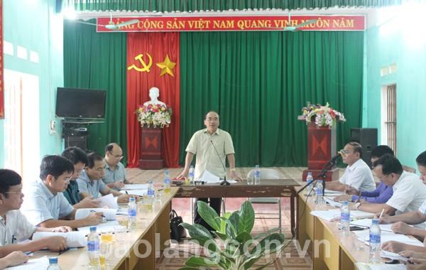 Lãnh đạo UBND tỉnh kiểm tra xây dựng  nông thôn mới tại Hữu Lũng