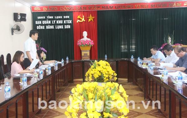 Thống nhất nội dung tuyên truyền kỷ niệm 10 năm thành lập Khu kinh tế cửa khẩu Đồng Đăng- Lạng Sơn