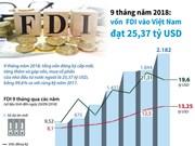 Vốn FDI vào Việt Nam đạt 25,37 tỷ USD trong 9 tháng