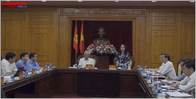 Phó Chủ tịch Quốc hội Uông Chu Lưu làm việc tại Lạng Sơn