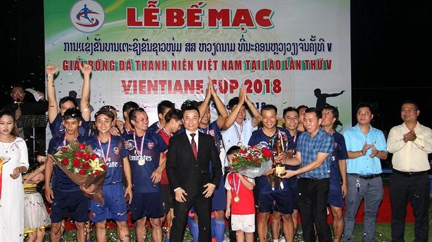 Bế mạc Giải bóng đá thanh niên Việt Nam tại Lào