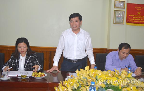 Lãnh đạo UBND tỉnh Lạng Sơn thăm và làm việc tại Công ty TNHH Bảo Long