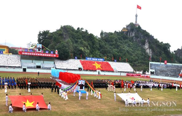 Tổng duyệt chương trình lễ khai mạc Đại hội TDTT tỉnh Lạng Sơn