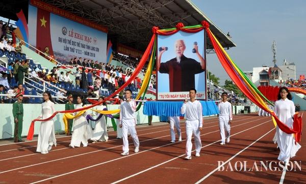 Khai mạc Đại hội Thể dục thể thao tỉnh Lạng Sơn lần thứ VIII
