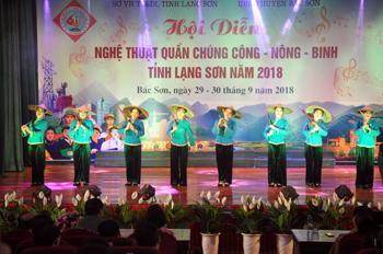 Sôi nổi phong trào văn nghệ quần chúng huyện Bắc Sơn