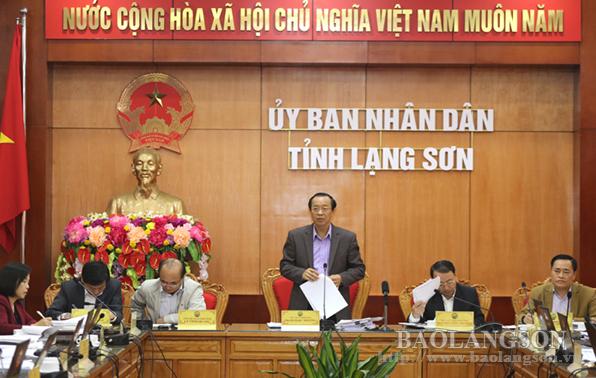 UBND tỉnh Lạng Sơn họp phiên thường kỳ tháng 10/2018