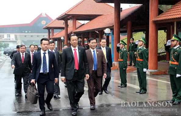 Đoàn đại biểu tỉnh Lạng Sơn thăm và làm việc  tại Quảng Tây, Trung Quốc