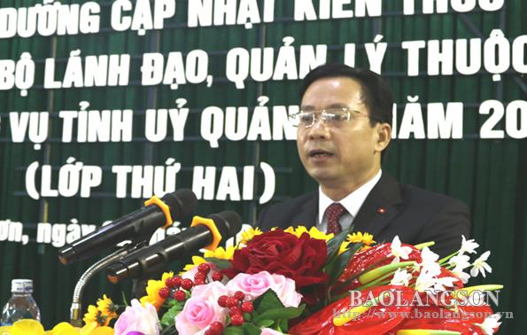 Lạng Sơn: Khai giảng lớp bồi dưỡng cập nhật kiến thức dành cho cán bộ lãnh đạo, quản lý
