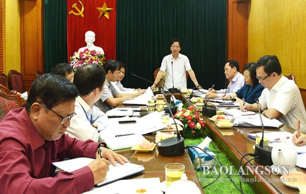 Thường trực HĐND tỉnh thống nhất dự kiến nội dung kỳ họp thứ chín HĐND tỉnh khóa XVI