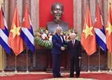 Tổng Bí thư, Chủ tịch nước Nguyễn Phú Trọng hội đàm với Chủ tịch HĐNN, HĐBT Cuba