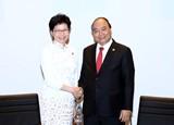 Thủ tướng gặp gỡ một số trưởng đoàn dự Hội nghị APEC