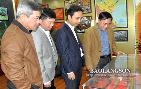Lãnh đạo UBND tỉnh kiểm tra công tác triển khai đầu tư xây dựng Đền thờ liệt sỹ Chi Lăng