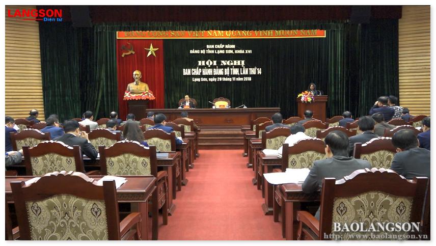 Hội nghị Ban Chấp hành Đảng bộ tỉnh lần thứ 14: Đánh giá, triển khai nhiều nội dung quan trọng