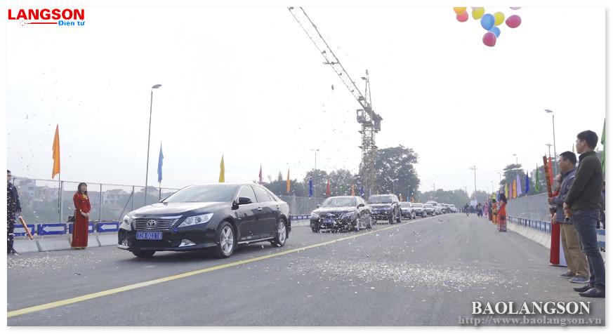 Thông xe kỹ thuật cầu Kỳ Cùng, thành phố Lạng Sơn