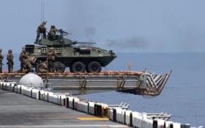 Mỹ tích hợp xe bọc thép lên tàu đổ bộ để nâng cao hiệu quả tác chiến