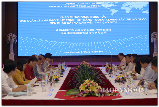 Trao đổi về cơ chế, chính sách ưu đãi đối với các nhà đầu tư nước ngoài vào Lạng Sơn