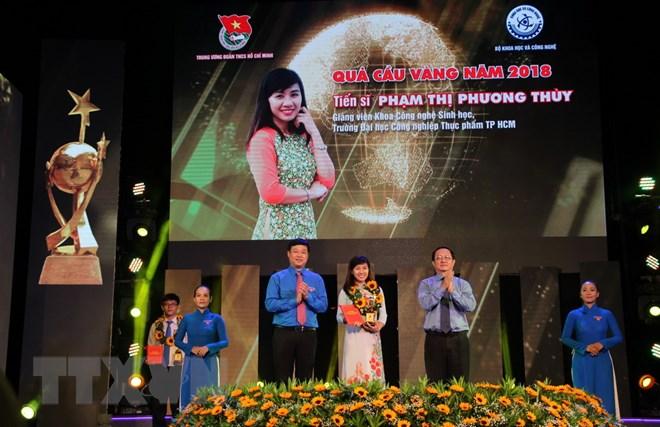 Trao Giải thưởng khoa học công nghệ thanh niên Quả Cầu Vàng 2018