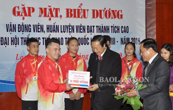 Lãnh đạo tỉnh Lạng Sơn biểu dương đoàn vận động viên đạt thành tích cao tại Đại hội Thể dục Thể thao toàn quốc