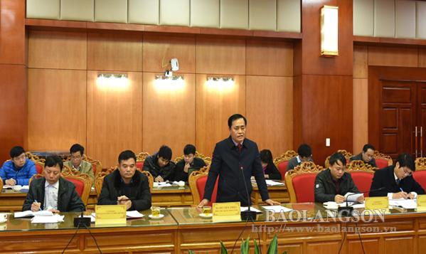 Đoàn giám sát của Đoàn ĐBQH tỉnh Lạng Sơn làm việc với UBND tỉnh
