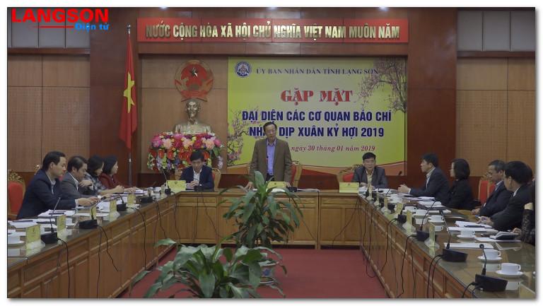 UBND tỉnh gặp mặt đại diện các cơ quan báo chí nhân dịp xuân Kỷ Hợi 2019