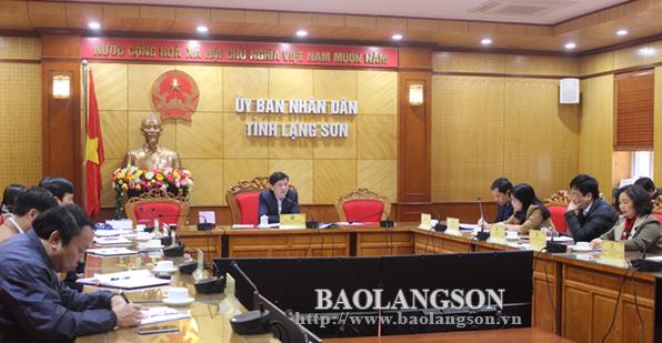Họp Ban tổ chức gặp mặt đại biểu văn nghệ sĩ – trí thức tỉnh Lạng Sơn