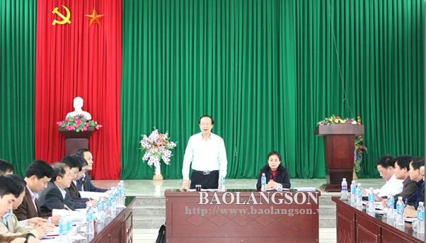 Chủ tịch UBND tỉnh kiểm tra xây dựng nông thôn mới tại xã Cao Minh