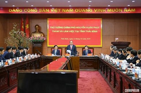 """Thủ tướng yêu cầu Thái Bình """"bứt phá"""" trong triển khai dự án động lực"""