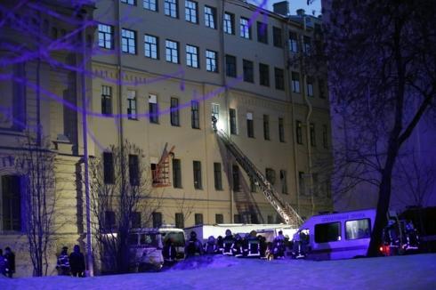 Sập trần trường Đại học ở St Petersburg (Nga), nhiều người mắc kẹt