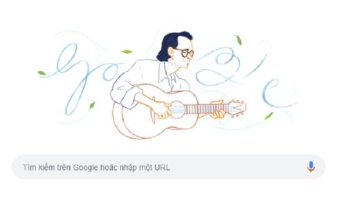 Trịnh Công Sơn - người Việt Nam đầu tiên được Google Doodles vinh danh