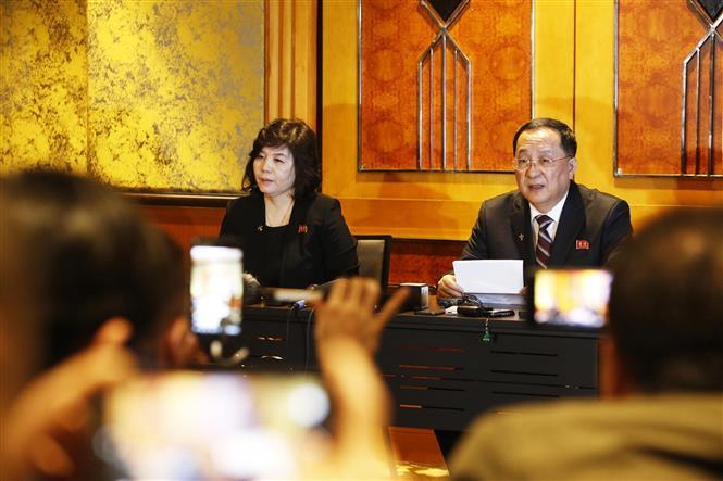 Triều Tiên họp báo về Thượng đỉnh Mỹ-Triều lần thứ 2