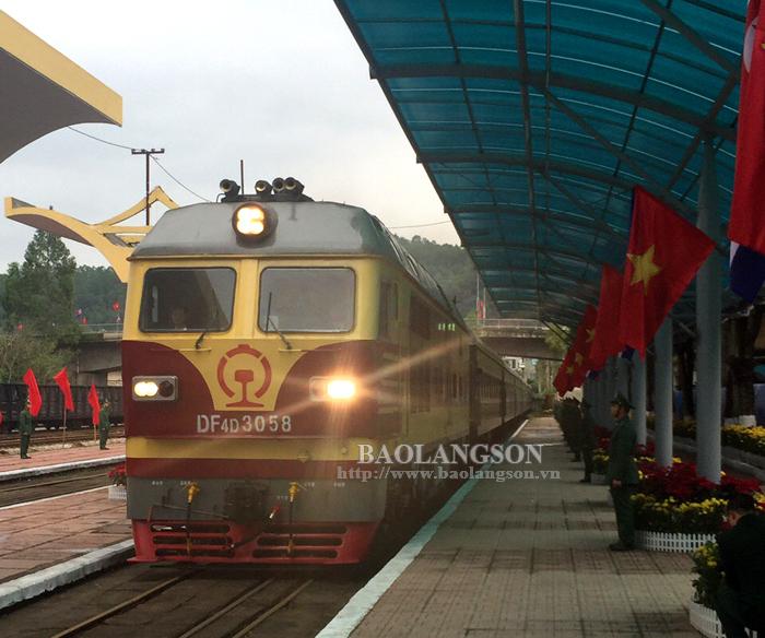 Ga quốc tế Đồng Đăng trước giờ tiễn ông Kim Jong - un về nước