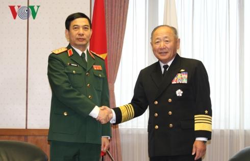 Việt Nam-Nhật Bản tăng cường hợp tác quốc phòng
