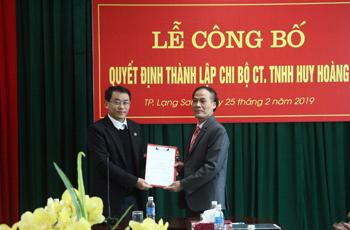 Thành phố Lạng Sơn: Phát triển Đảng trong doanh nghiệp ngoài Nhà nước