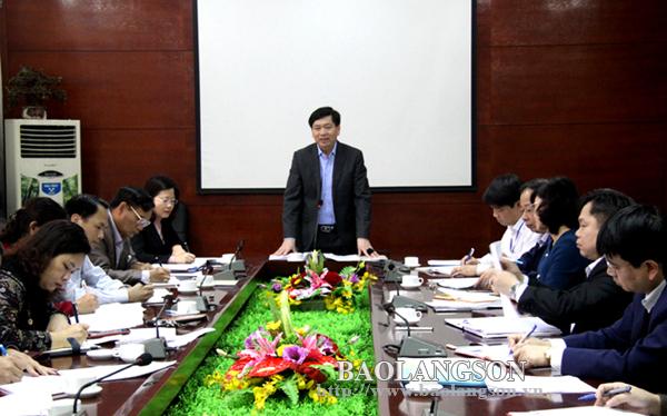 Lãnh đạo UBND tỉnh làm việc với Sở Khoa học và Công nghệ