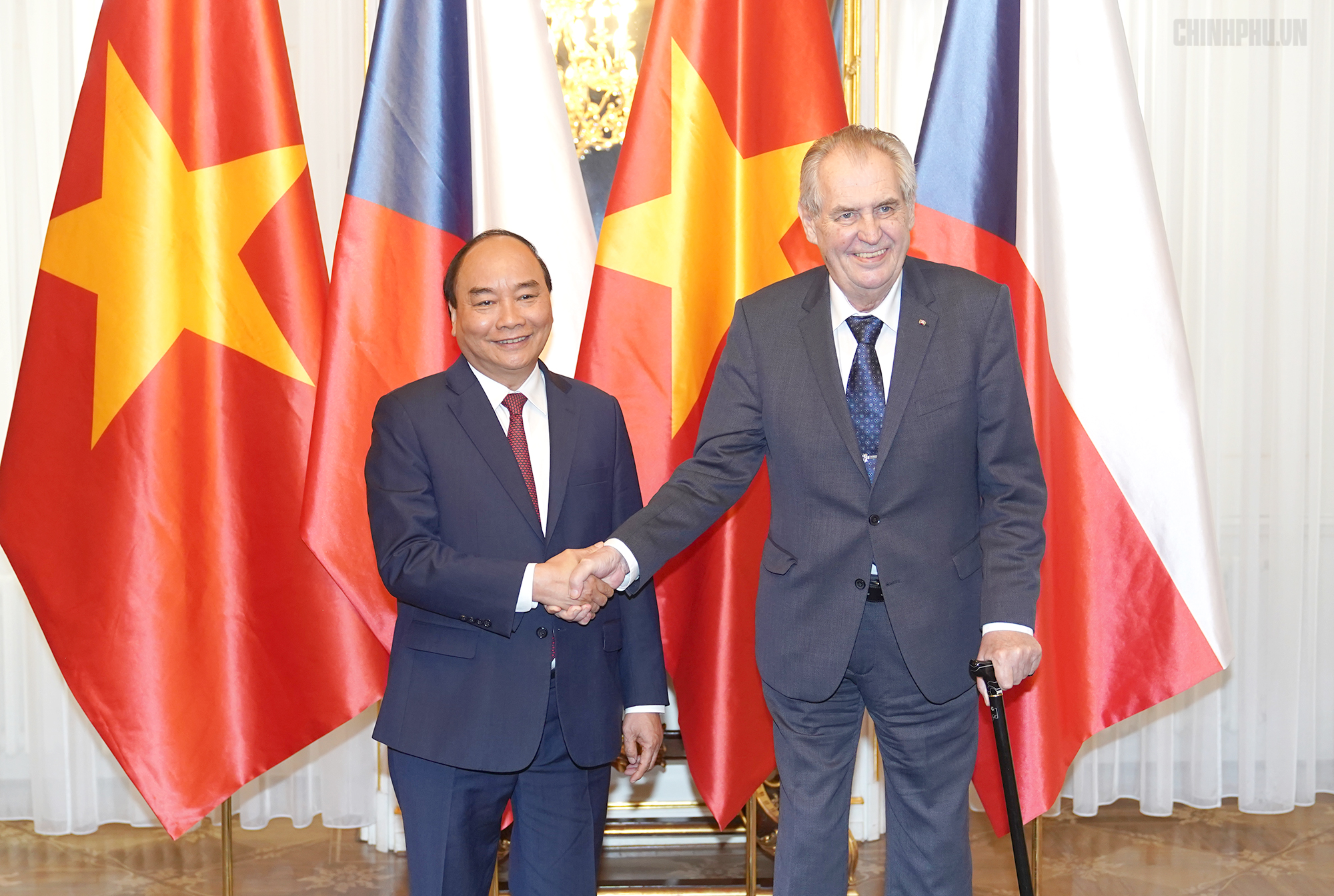 Thủ tướng Nguyễn Xuân Phúc hội kiến Tổng thống CH Czech