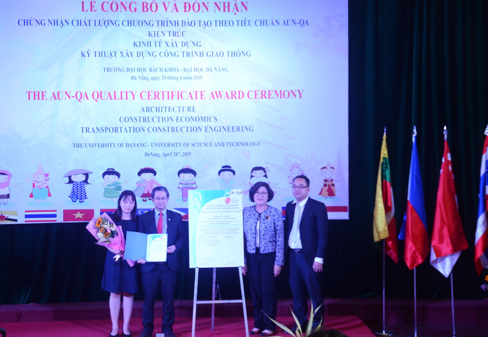 Đại học Bách khoa Đà Nẵng nhận 3 chứng chỉ của AUN-QA
