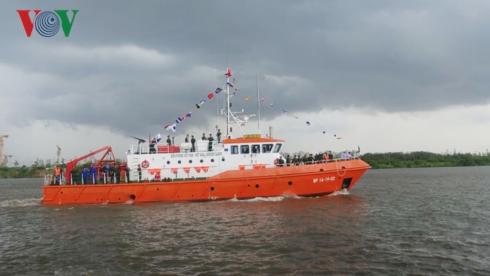 Biên phòng TPHCM tiếp nhận tàu tuần tra hiện đại