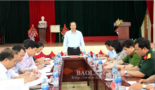 Chủ tịch UBND tỉnh kiểm tra công tác chuẩn bị diễn tập khu vực phòng thủ tỉnh năm 2019