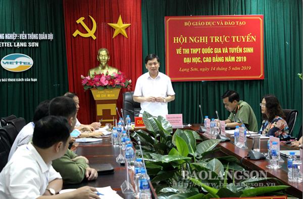Hội nghị trực tuyến công tác chuẩn bị tổ chức thi THPT quốc gia