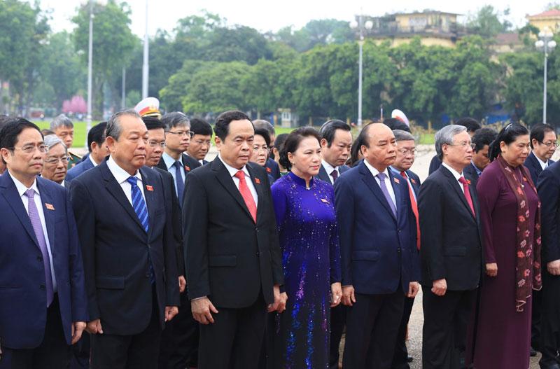 Hình ảnh phiên khai mạc kỳ họp thứ bảy, Quốc hội khóa XIV
