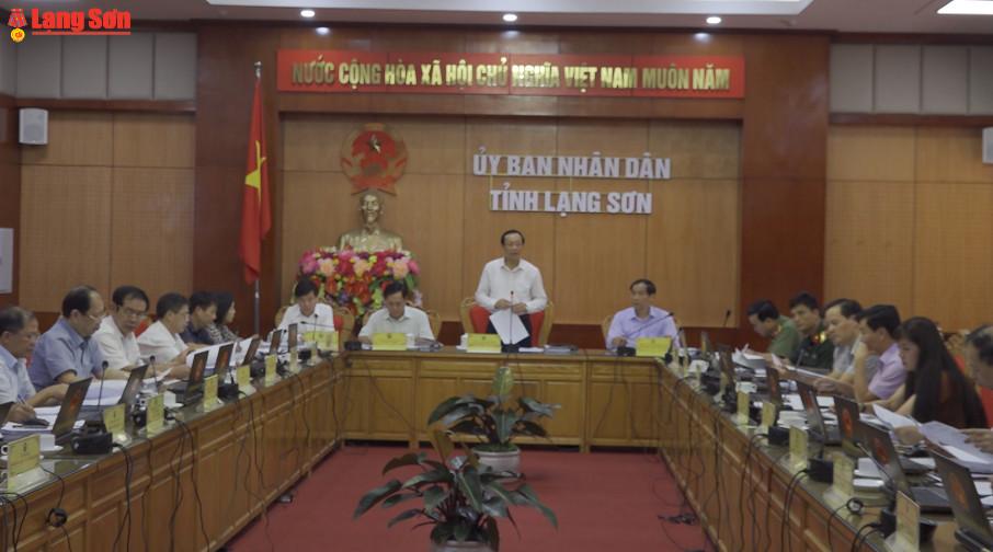 UBND tỉnh Lạng Sơn họp thường kỳ tháng 5