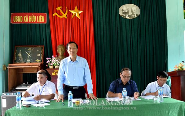 Chủ tịch UBND tỉnh kiểm tra tình hình đầu tư và kinh doanh du lịch tại xã Hữu Liên, huyện Hữu Lũng