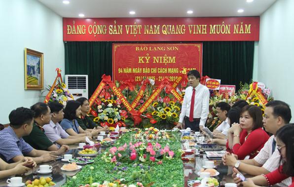 Các cơ quan, đơn vị, các huyện, thành phố chúc mừng  Báo Lạng Sơn nhân Ngày Báo chí Cách mạng Việt Nam