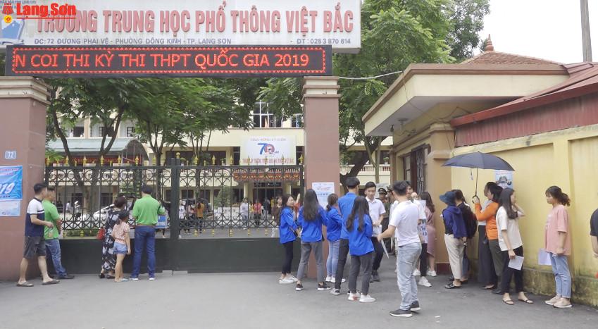 Lạng Sơn: Trên 8.800 thí sinh tham gia ngày đầu tiên của kỳ thi THPT quốc gia năm 2019