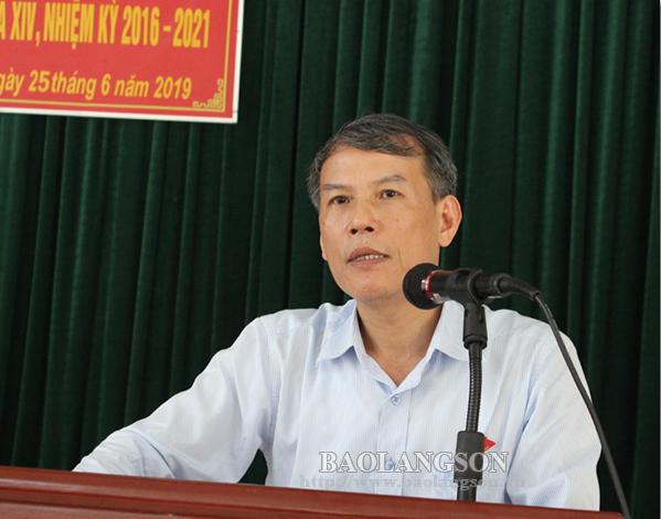 Đoàn Đại biểu Quốc hội tỉnh tiếp xúc cử tri  tại huyện Đình Lập