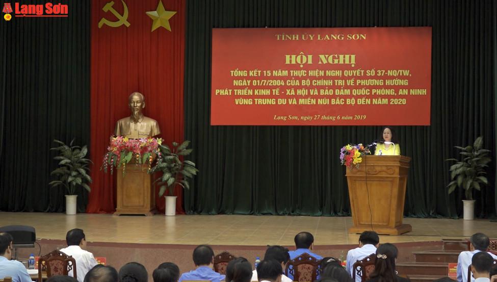 Tỉnh ủy Lạng Sơn tổng kết 15 năm thực hiện Nghị quyết 37 của Bộ Chính trị