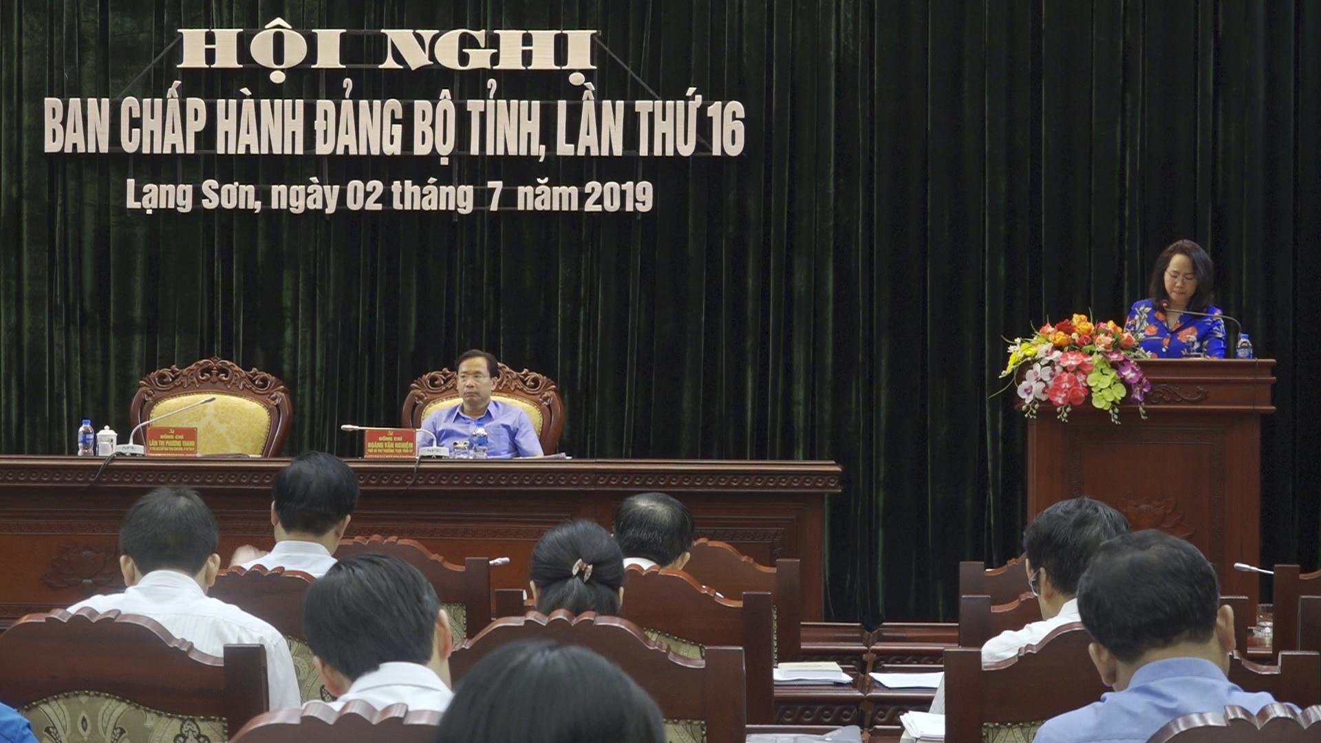 Ban Chấp hành Đảng bộ tỉnh Lạng Sơn đánh giá kết quả công tác 6 tháng đầu năm 2019